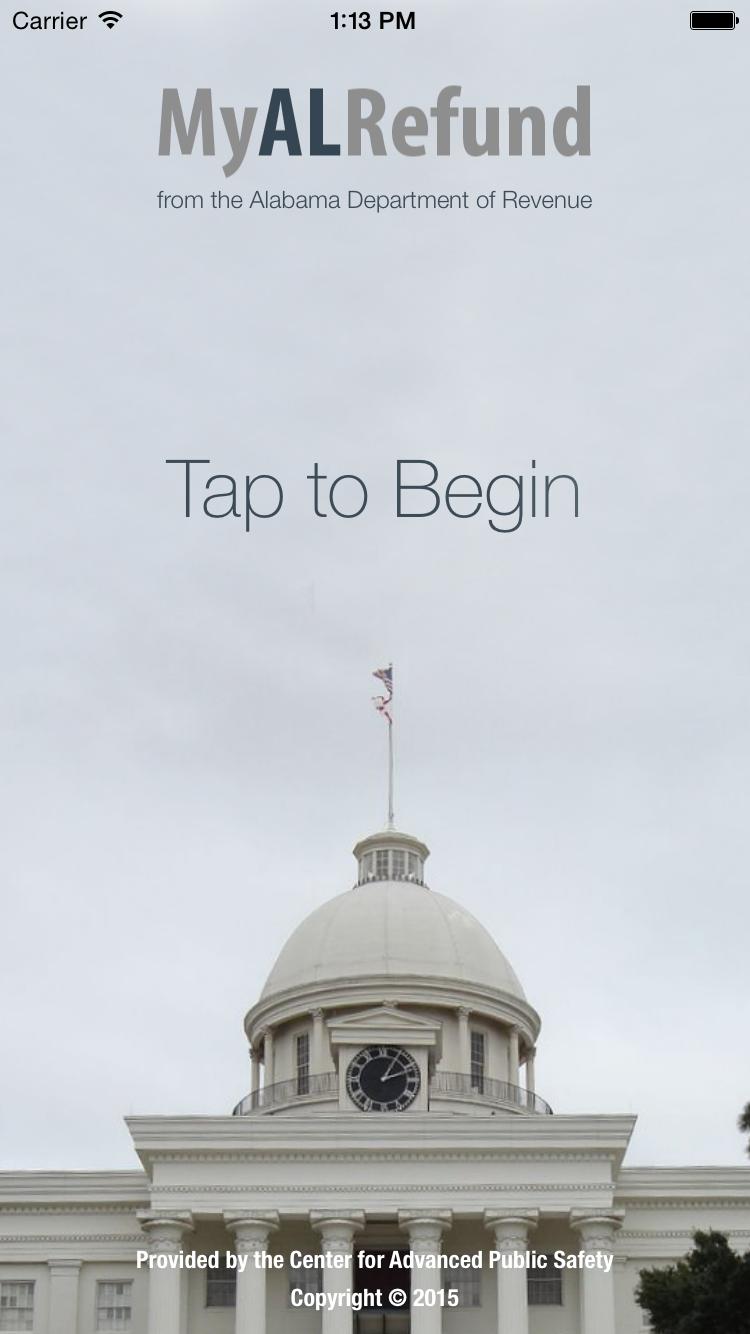 My Alabama Refund Splash Screen